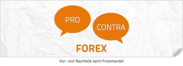Vor- und Nachteile im Forexhandel