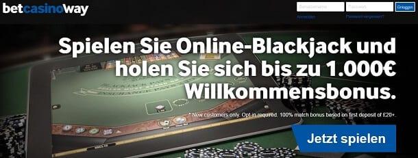 BlackJack bei Betway spielen