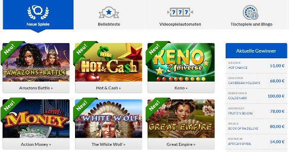 Novoline Casino Games bei Quasar Games