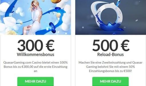 300-Euro-Bonus bei Quasar Games