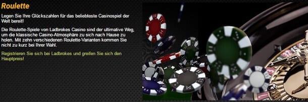 Ladbrokes Casino Roulette: 15 Spielvarianten