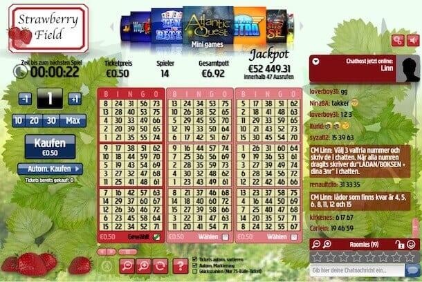 Bei Betsson online Bingo spielen