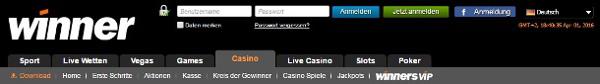 Winner Casino bietet Top Bonus ohne Einzahlung