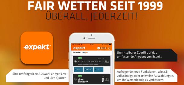 Expekt Sportwetten App