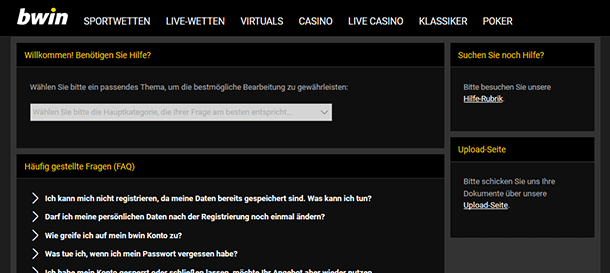 bwin Support