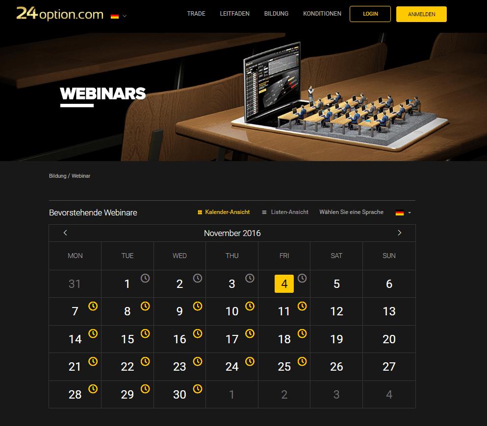 24option Webinare