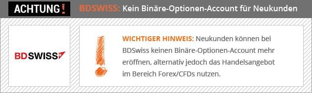 Bdswiss Konto Löschen