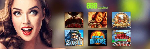 888 Casino Spieleauswahl