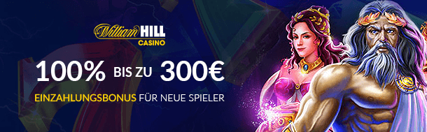 William Hill Casino: Für Neukunden gibts den William Hill Bonus