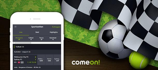 ComeOn! Sportwetten App