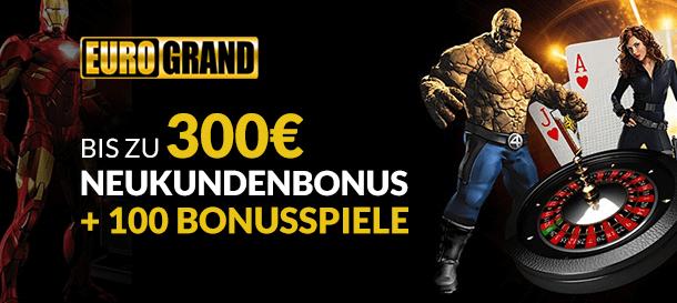 Eurogrand Casino Bonus für NEukunden