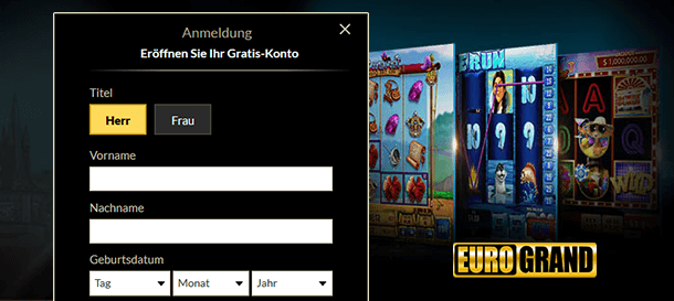 Eurogrand Casino Registrierung