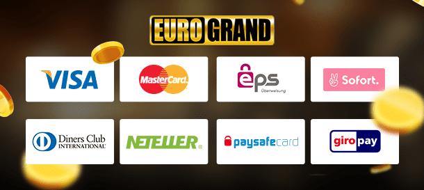 Eurogrand Casino Zahlungsmethoden