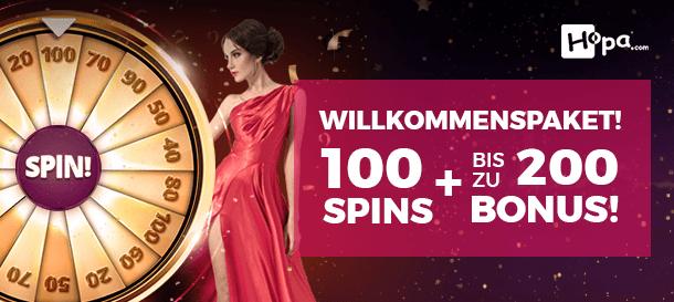 Hopa Casino Bonus für Neukunden