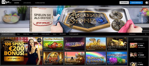 Hopa Casino Spieleauswahl