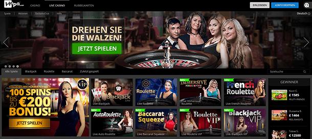 Hopa Casino Live Casino