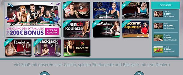 Karamba Slots Live Casino