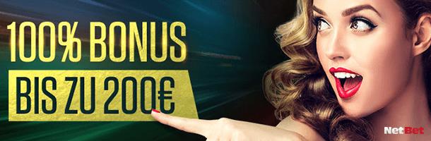 Bonus Netbet 200 Euro im tollen Netbet Casino