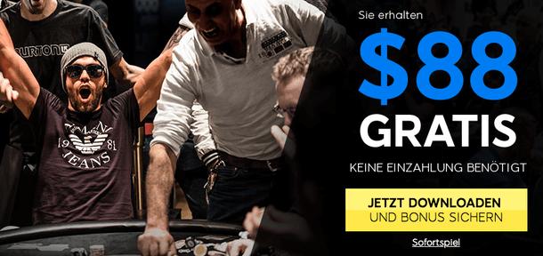 888 Poker Bonus: 88 Euro gratis!