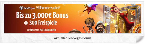 Leo Vegas Neukundenbonus