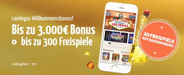 Leo Vegas Bonus 1