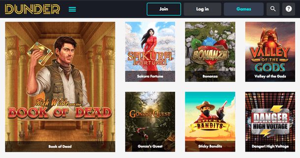 Dunder Casino Bonus Slots