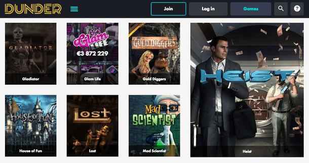 Dunder Casino Games_Heist