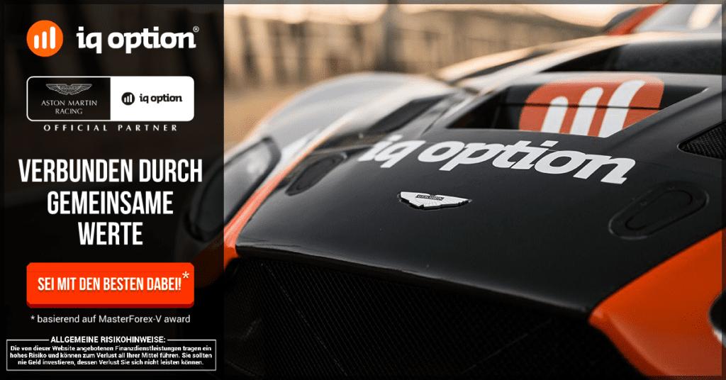 IQ Option ist offizieller Partner von Aston Martin