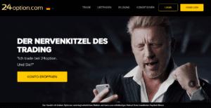 Boris Becker – Werbung für 24option