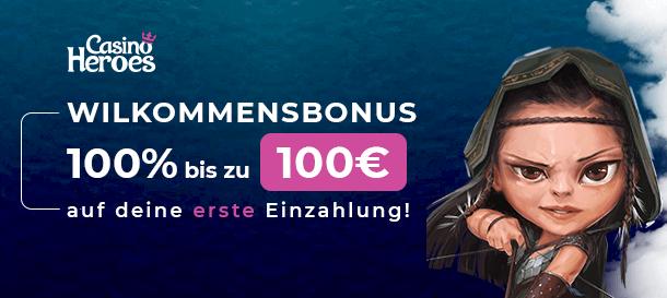 Casino Heroes Bonus für Neukunden