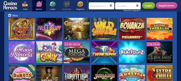 Casino Heroes Spiele & Slots im Casino