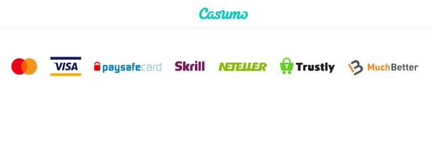 Casumo Einzahlungen und verfügbare Zahlungswege