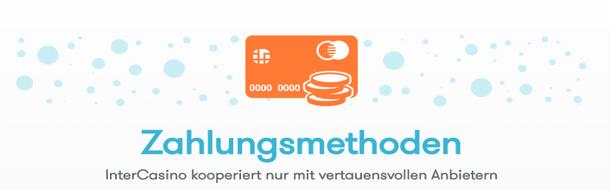 Intercasino Zahlungsmethoden