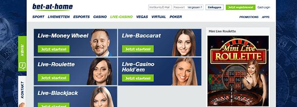 Bet-at-Home Casino Livecasino