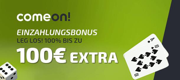 ComeOn! Casino Bonus für neue Kunden