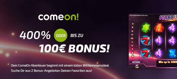ComeOn! Casino Bonus 2019