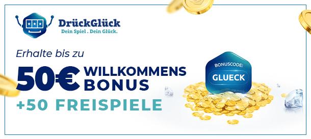 DrückGlück Casino Bonus für neue Kunden im Casino