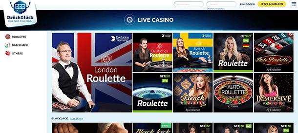 DrückGlück Casino Live Casino & Live Dealer