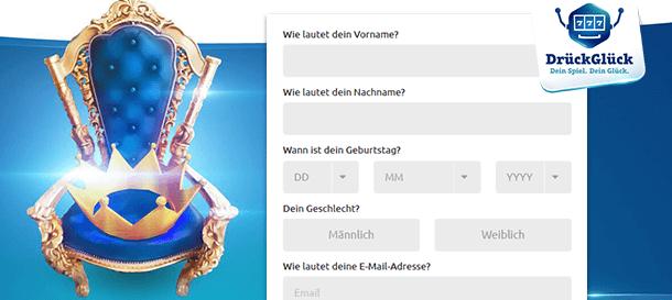 DrückGlück Casino Registrierung