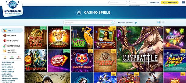 DrückGlück Casino Spieleangebot