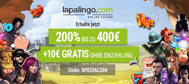 Lapalingo Bonus für Casino Neukunden