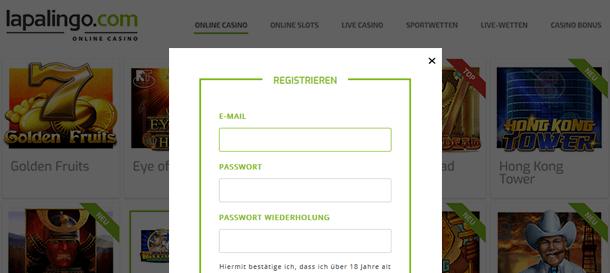 Lapalingo Registrierung