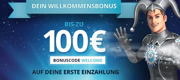 bonus code platin casino