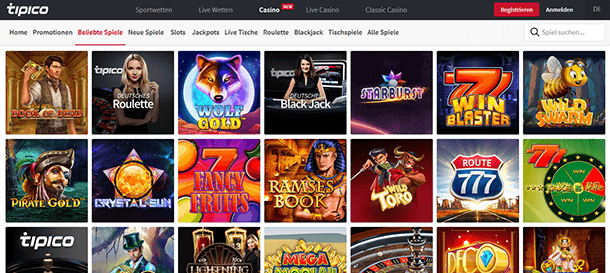 Tipico Casino Spiele