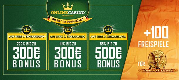 Onlinecasino.de Bonus für Neukunden