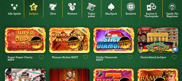 Onlinecasino.de Spieleauswahl