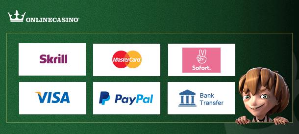 Onlinecasino.de Zahlungen