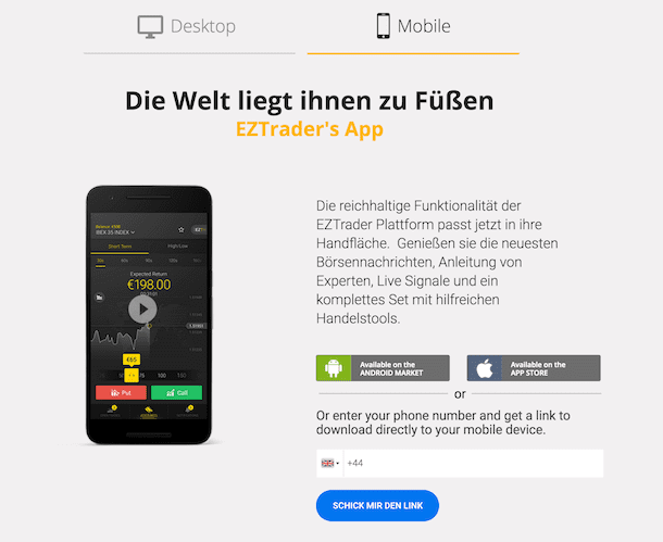 EZTrader Erfahrungen: EZTrader App