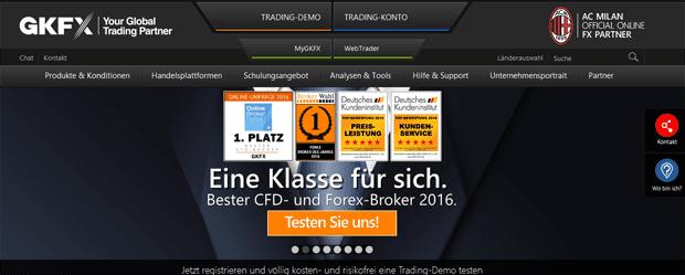 GKFX Forex Testsieger