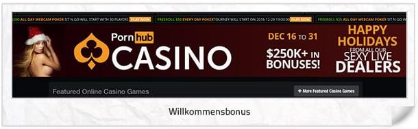 Pornhub Casino Bonus